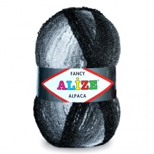Alpaca Fancy (15% альпака, 15% шерсть, 60% акрил, 10% полиэстер) - 875м/  350г